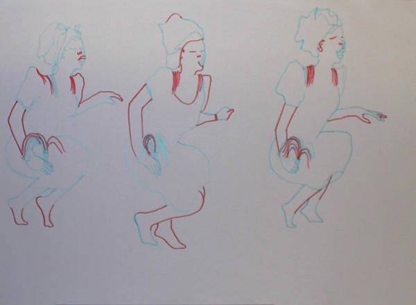 Painting - Swange Traditional Dance Nigeria by Gloria Ssali
