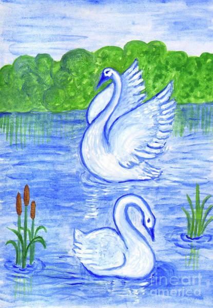 Painting - Swans by Irina Dobrotsvet