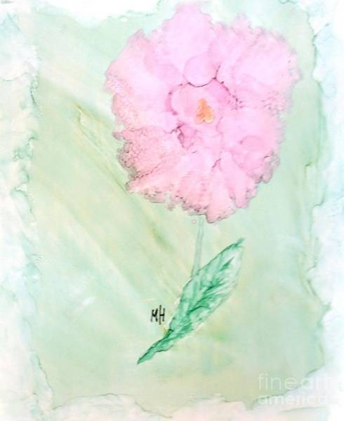 Wall Art - Painting - Sweeet Ink Painted Rose by Marsha Heiken