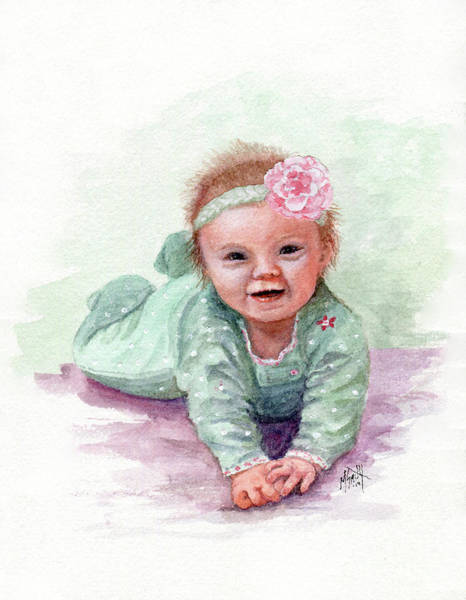 Painting - Sweet Baby Girl by Marilyn Smith