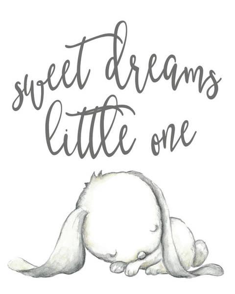 Gender Wall Art - Digital Art - Sweet Dreams Bunny by Pink Forest Cafe