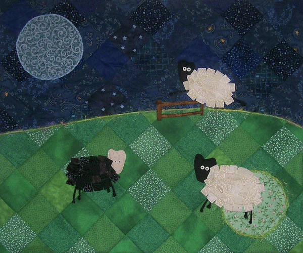 Tapestry - Textile - Sweet Dreams Counting Sheep by Pam Geisel