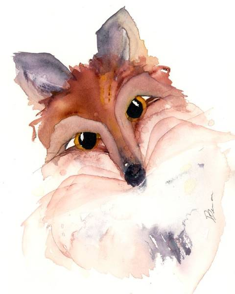 Painting - Sweet Fox by Dawn Derman