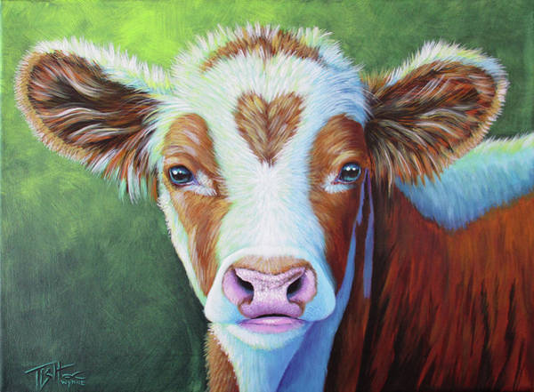 Painting - Sweet Heart Calf by Tish Wynne