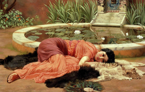 Dolce Wall Art - Painting - Sweet Idleness by John William Godward