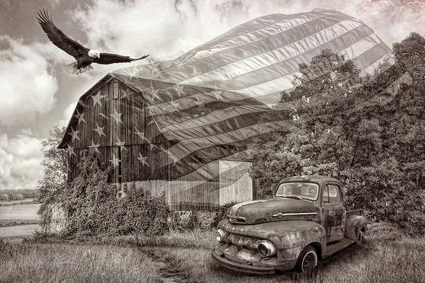 Photograph - Sweet Land Of Liberty In Vintage Sepia Tones by Debra and Dave Vanderlaan