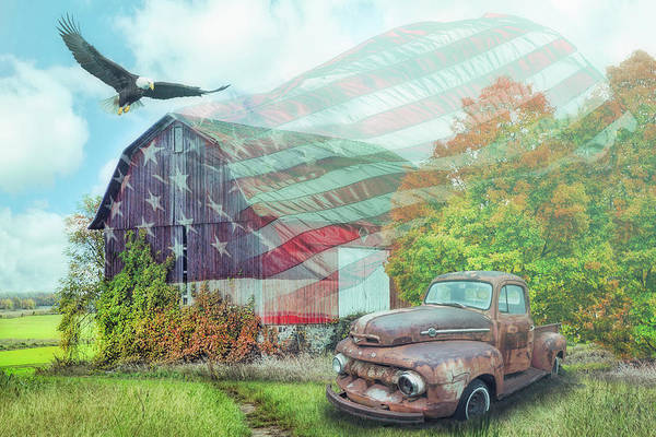 Photograph - Sweet Land Of Liberty On A Misty Morning by Debra and Dave Vanderlaan