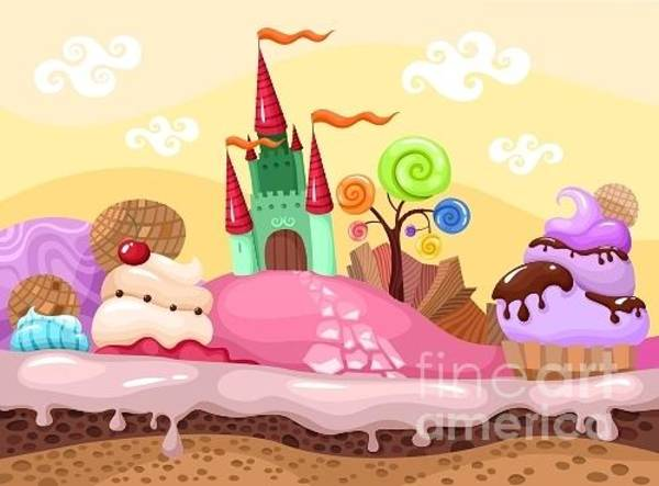 Candy Wall Art - Digital Art - Sweet Landscape by Nem4a