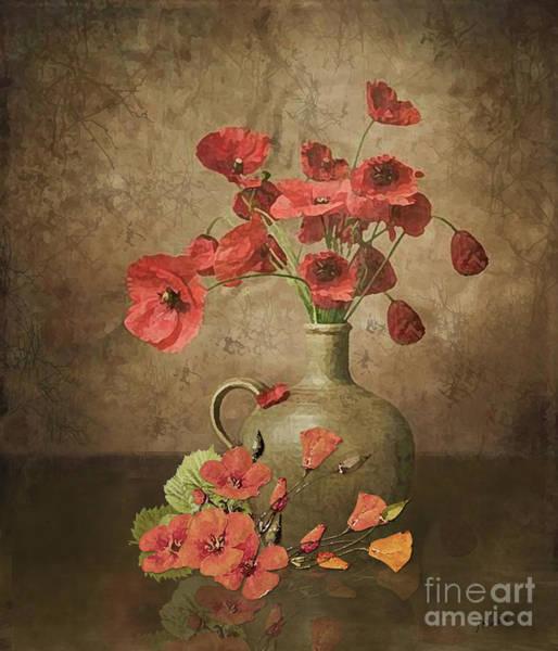 Wild Poppies Digital Art - Sweet Paprika Poppies by J Marielle