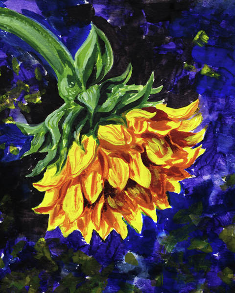 Wall Art - Painting - Sweet Sunflower Floral Impressionism  by Irina Sztukowski