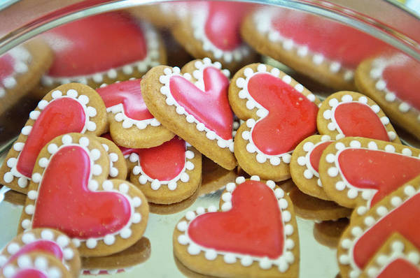 Tin Box Photograph - Sweet Valentine Cookies In A Tin by Mieke Dalle