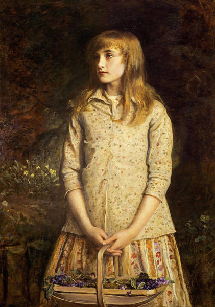 Millais Painting - Sweetest Eyes Were Ever Seen, 1881 by John Everett Millais