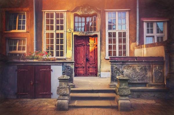 Polished Photograph - Swietego Ducha Street In Gdansk  by Carol Japp