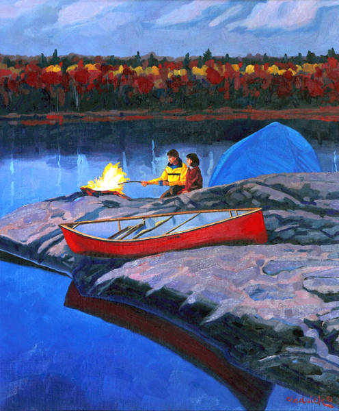 Painting - Swift Campsite Two Night by Phil Chadwick