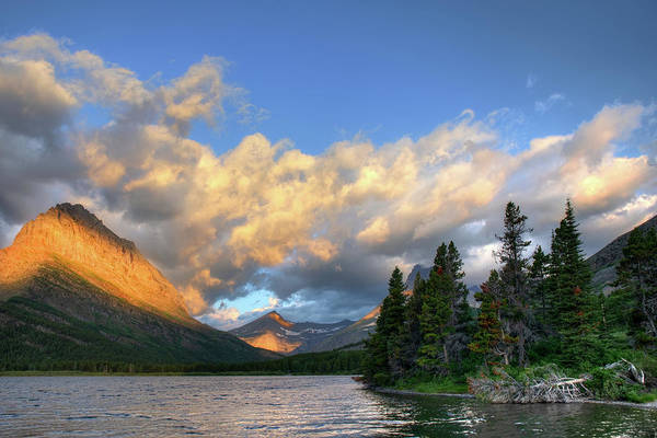 Photograph - Swiftcurrent Sunrise  by Harriet Feagin