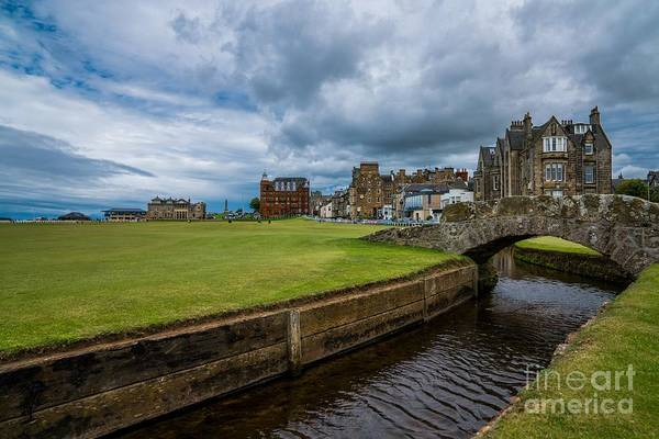 Digital Art - Swilcan Burn - The Old Course  by Michael Graham