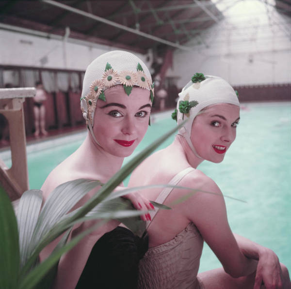 Toothy Smile Photograph - Swimming Hats by Charles Hewitt