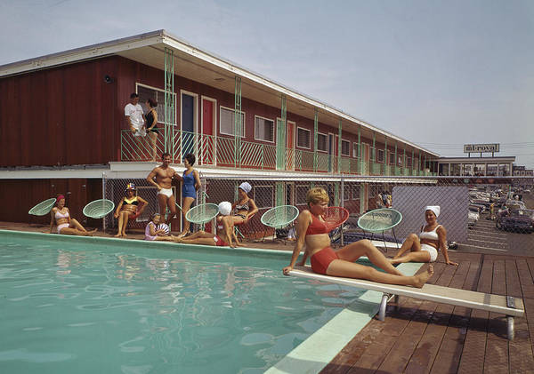 Bikini Photograph - Swimming Pool At The Mt. Royal Motel by Aladdin Color Inc