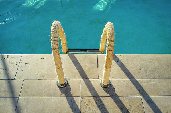 Photograph - Swimming Pool Ladder, Los Angeles by Alvis Upitis