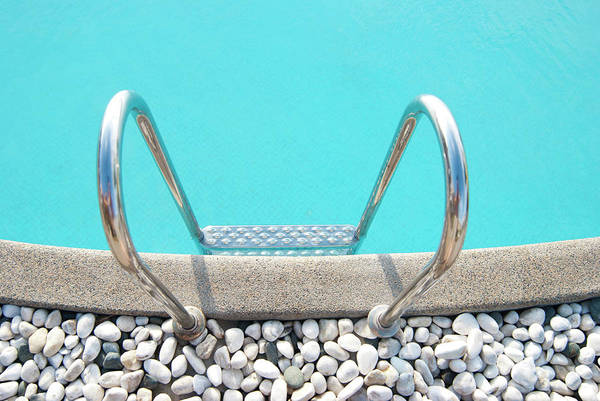The Philippines Wall Art - Photograph - Swimming Pool With White Pebbles by Lawren