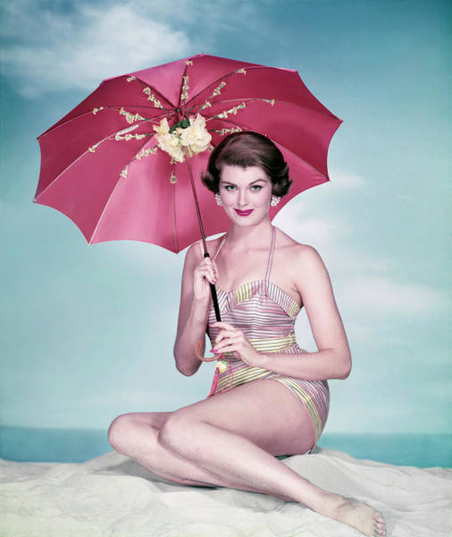 Make Up Photograph - Swimsuit Model by Tom Kelley Archive