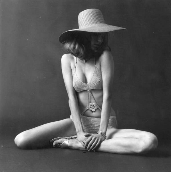 Straw Hat Photograph - Swimwear Fashion by Evening Standard