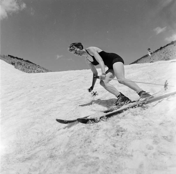 Photograph - Swimwear Skier by Don