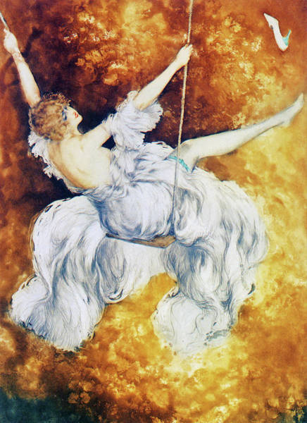 Fire Dance Wall Art - Painting - Swing - Digital Remastered Edition by Louis Icart
