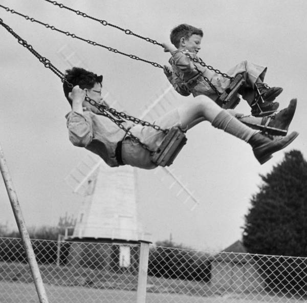 Carefree Photograph - Swing High by Erich Auerbach