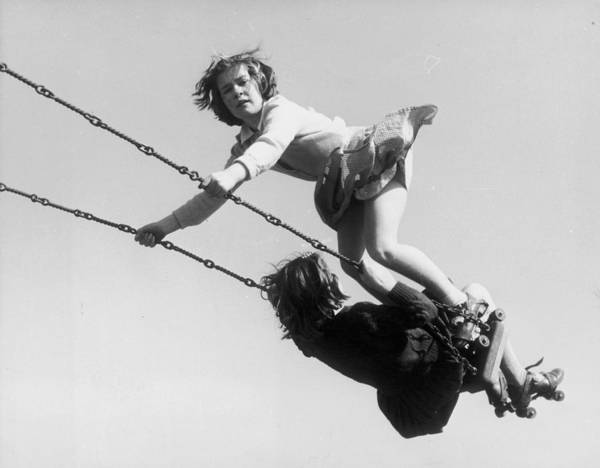 1958 Photograph - Swinging High by Fred Morley