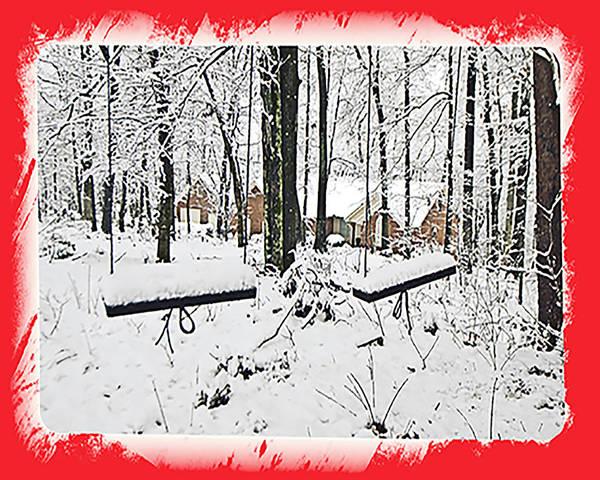 Photograph - Swings Christmas Card by Susan Leggett