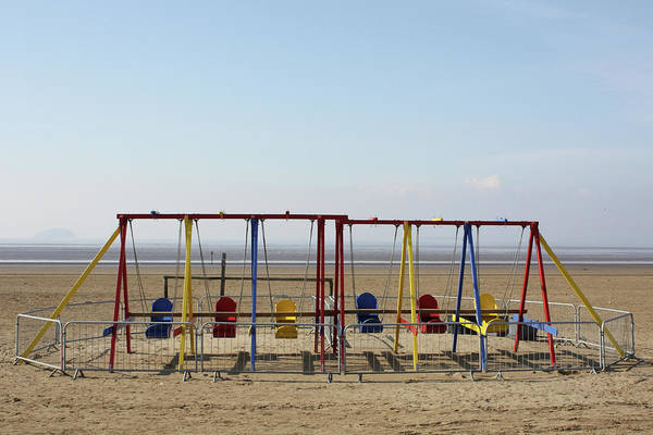Weston Photograph - Swings On The Beach by Alison Oddy