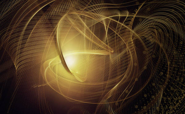 Wall Art - Photograph - Swirling Blurred Motion Golden Abstract by Ikon Images