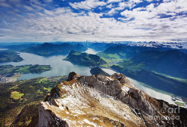 Wide Wall Art - Photograph - Swiss Alps View From Mount Pilatus by Justin Black