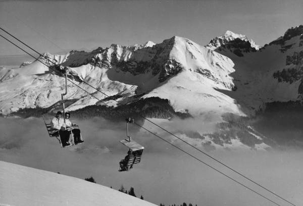 Arrival Photograph - Swiss Chairlift by William Vanderson