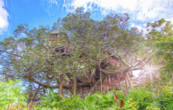 Adventureland Photograph - Swiss Family Treehouse by Mark Andrew Thomas