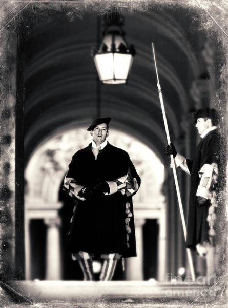 Photograph - Swiss Guards At Saint Peter's Basilica In Vatican City by John Rizzuto