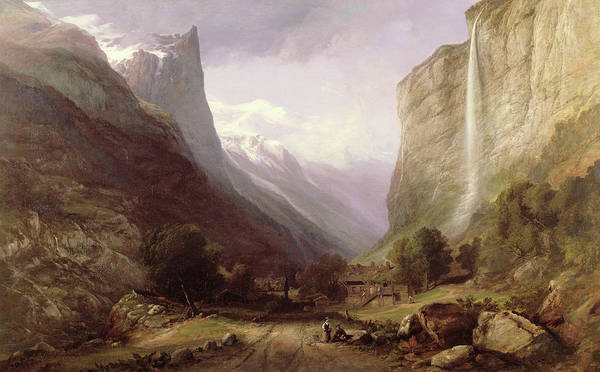Wall Art - Painting - Swiss Scene by Samuel Jackson