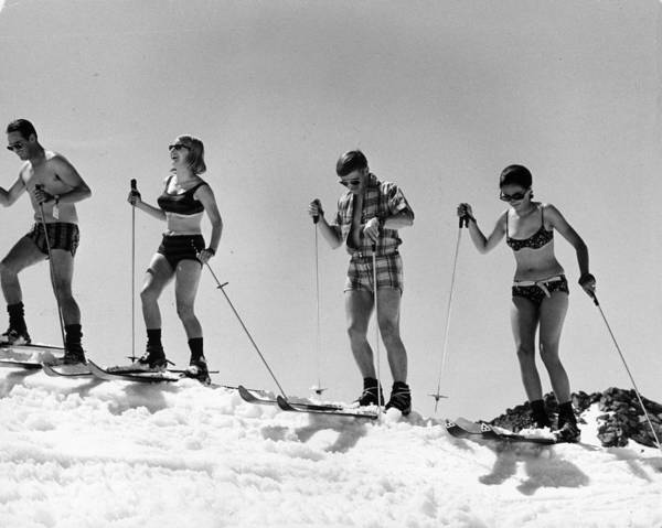 Sports Clothing Photograph - Swiss Skiers by Keystone Features
