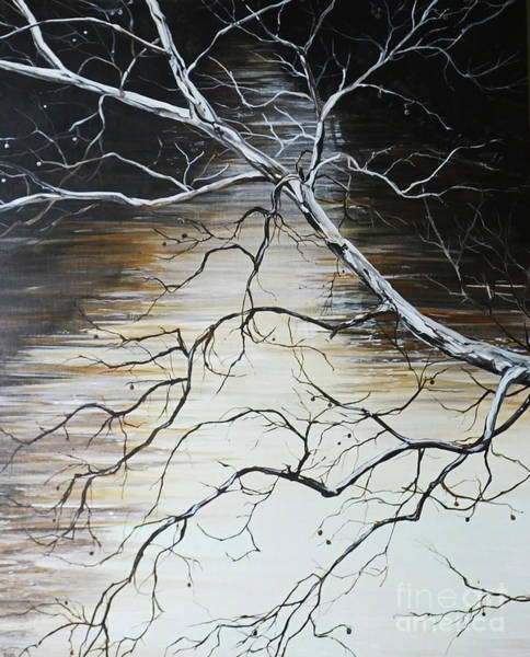 Painting - Sycamore On The Wolf by Lizi Beard-Ward