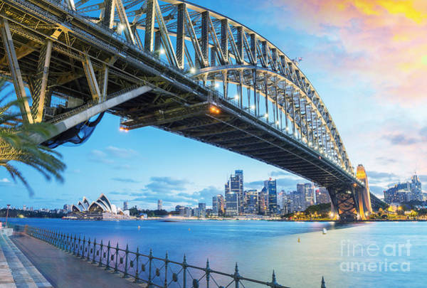 Wall Art - Photograph - Sydney, Australia. Amazing Skyline At by Pisaphotography