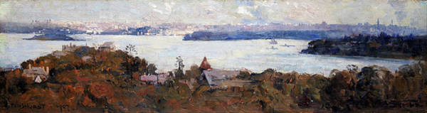 Wall Art - Painting - Sydney Harbour From Penshurst, Cremorne - Digital Remastered Edition by Arthur Streeton