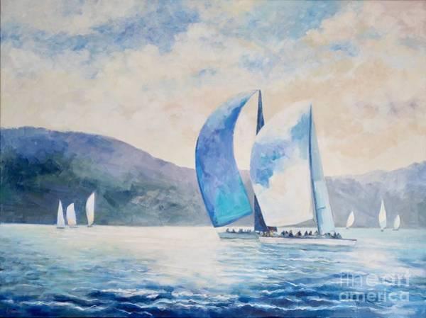 Wall Art - Painting - Sydney Sails II by Ekaterina Mortensen