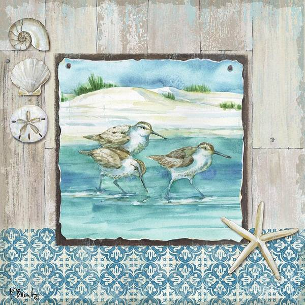 Wall Art - Painting - Sydney Sandpipers I by Paul Brent