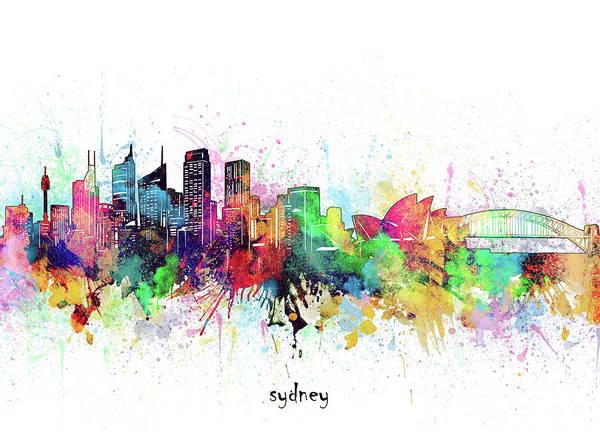 Wall Art - Digital Art - Sydney Skyline Artistic by Bekim M