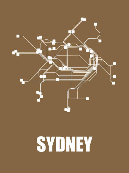 Wall Art - Digital Art - Sydney Subway Map 2 by Naxart Studio