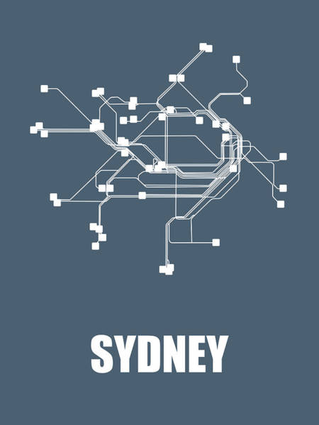 Wall Art - Digital Art - Sydney Subway Map by Naxart Studio