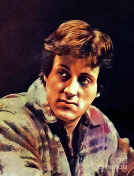 Wall Art - Painting - Sylvester Stallone, Actor by John Springfield