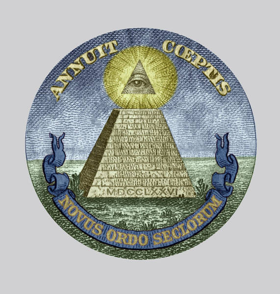 Wall Art - Drawing - Symbol Of The Illuminati Secret Society by Unknown