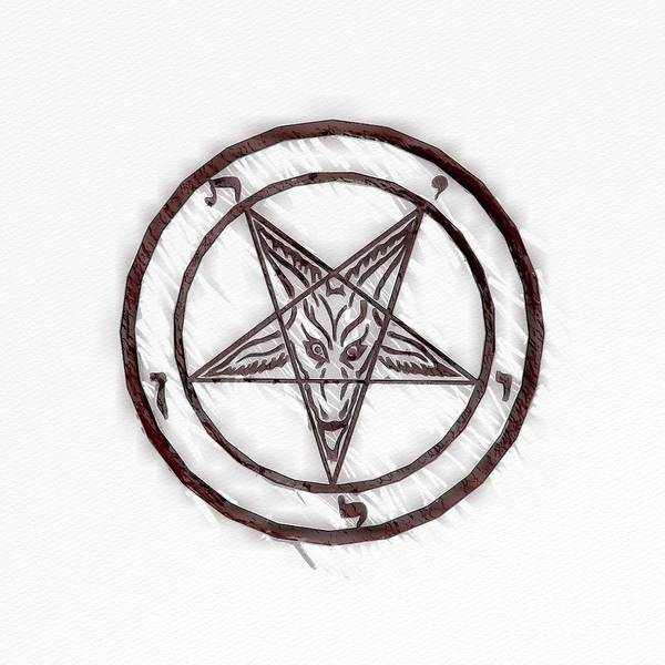 Wall Art - Painting - Symbol Of The Occult by Raphael Terra